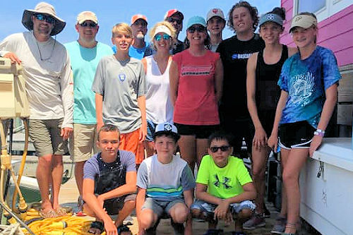This large charter group staying in Avon NC found out that Stormy Petrel is even better than a head boat because we are less crowded, more comfortable, better equipment and catch more desirable fish.