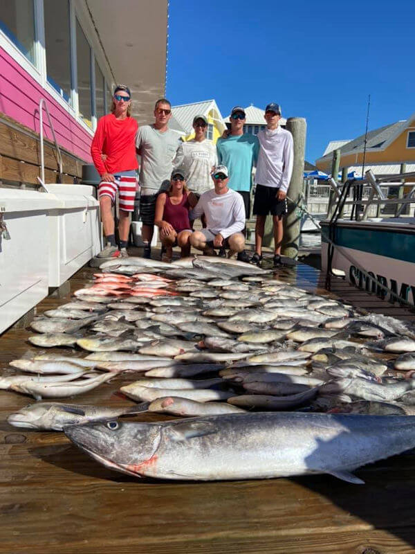 Hatteras anglers with their fish.